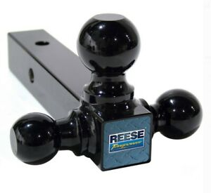 Reese Towpower 7022400 Triple Ball Mount Black Towing Hitch 10 000 Lb