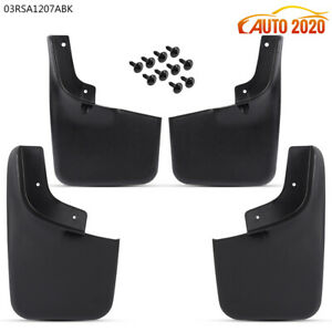 For 2004 2014 Ford F 150 Molded Splash Guards Mud Flaps W Wheel Lips 4pcs