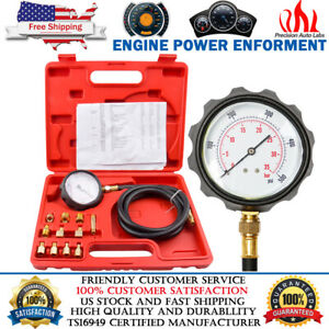 500psi Auto Engine Oil Pressure Tester Gauge Diagnostic Tester Tool Kit With Case