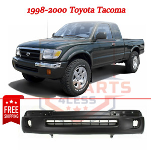 New Front Bumper Cover W Fog Lamp Holes Primed For 1998 2000 Toyota Tacoma