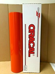 Oracal 651 1 Roll 24 X 50yd 150ft Orange Red 047 Gloss Sign Vinyl