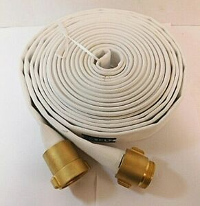 1 1 2 X 50 ft Single Jacket Reel Fire Hose With Brass Coupling Nst nh Thread