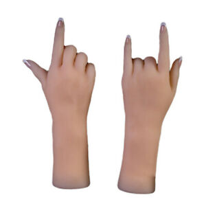 Bendable Fake Hands For Gloves Bangles Watches Display Manicure Practice