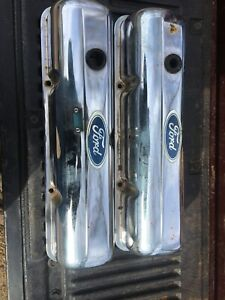 Vintage Ford Chrome Valve Covers Oem