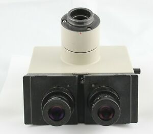 Olympus Super Wide Trinocular Head With Pair Swhk 10x L Eyepieces Bh2 Microscope