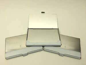 Pocket Stainless Steel Metal Business Card Holder Wallet Case 3 pk New C29 Aa