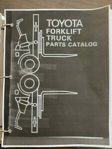 Vintage Toyota Forklift Models 2fg10 14 15 Parts Manual Forklift