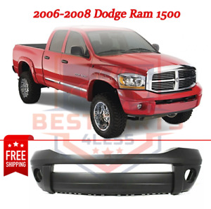 New Front Primed Bumper Cover W O Chrome Insert For 2006 2008 Dodge Ram 1500