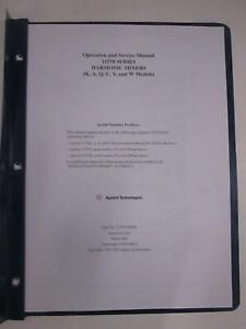 Agilent 11970 Series Harmonic Mixers Operation And Service Manual Used