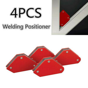4pc Steel Red Welding Magnetic Arrow Clamps Square Holder For 45 90 135 Degrees