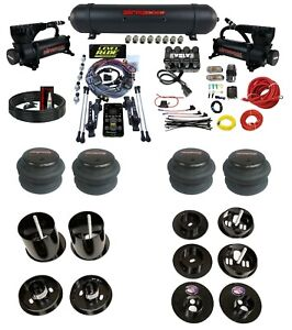 3 Preset Heights Complete Bolton Air Ride Suspension Kit Cadillac 65 70 Manifold