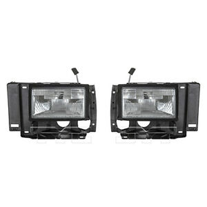 Fits 1989 1990 Ford Bronco Ii Headlight Pair Driver And Passenger Side W bulbs