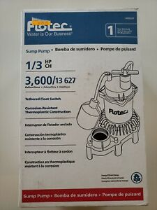 Flotec Fpzs33t 1 3 Hp Thermoplastic Submersible Sump Pump