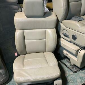 2008 Ford F150 Lariat Crew Cab Driver Power Front Bucket Seat Med Pebble Tan