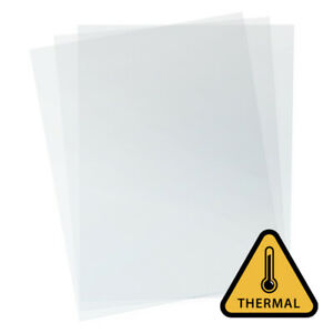 7 Mil Heat resistant Clear Binding Covers qty 100