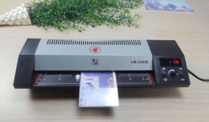 110v A3 Steel Thermal Laminator Hot Cold Pouch Photo Film Laminating Machine