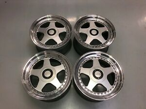 17x10 All Four Oz Futura Wheels Rare Bmw Chevy 5x120 Rare Bbs Acs Vintage Race