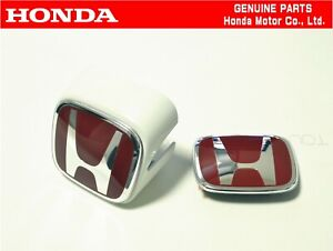 Honda Genuine Integra Dc5 Type r Front White Rear Emblem Badge Set Oem Jdm