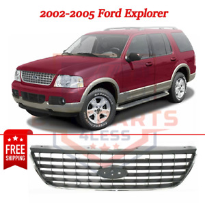 New Grille Gray Plastic For 2002 2005 Ford Explorer