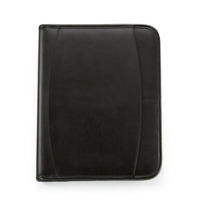 Gemline Contemporary Leather Black Leather Writing Pad Folio Tablet Folio new
