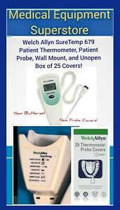 Welch Allyn Suretemp 679 Patient Thermometer Probe Wall Mount Unopen Covers