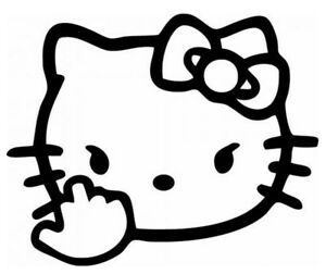 Hello Kitty Finger vinyl Decal sticker For Cars windows laptops And More