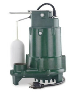 New Zoeller 1096 0001 1 2 Hp 115v 80 Gpm Cast Iron Submersible Sump Pump 1263