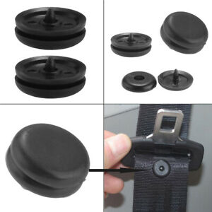 5x Universal Car Clip Seat Belt Stopper Buckle Button Fastener Safety Plastic