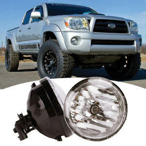 Fits 2005 2011 Toyota Tacoma Bumper Clear Lens Fog Lights Lamps W wiring switch