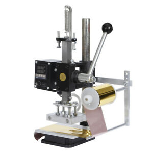 Manual Hot Foil Stamping Machine Leather Embossing Leathercraft Die Cutting 220v