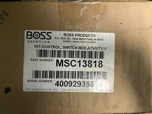 Boss Snowplow Atv Utv Control Kit Msc13818