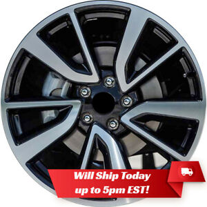 New Set Of 4 19 Machine Black Alloy Wheels Rims For 2008 2020 Nissan Rogue