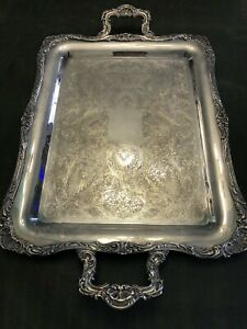 Wm Rogers Silver Plated Serving Tray Platter Numbered 290