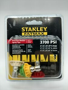 Stanley Fatmax Pressure Washer Tips Set 5 Nozzles 3700psi Quick Connect Fitting