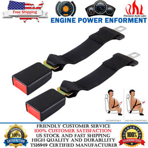 2pcs Universal Extension 14 Seat Belt Extender Belt Extension With 7 8 Buckle