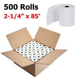 500 Rolls 2 1 4 X 85 Thermal Cash Register Pos Receipt Credit Card Paper Us