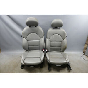 2001 2006 Bmw E46 M3 Coupe M Front Sports Seats Grey Nappa Leather Oem