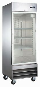A c e Commercial Display Freezer Single Reach in Glass Door 23 Cu ft
