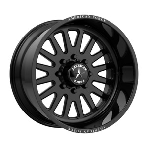 22x12 American Force F20 Atom Ss Black Forged Wheels Ford F 250 F 350 8x170