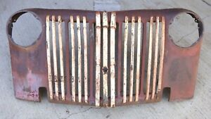 1942 1946 1947 Ford Truck Grille W Bars Original Jail Bar Pickup Panel