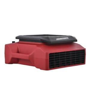 Red 1 3 Hp 1050 Cfm Built In Power Outlet 3 Speed Low Profile Light Air Mover