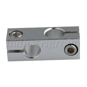 Double Tube Cross Linear Shaft Support Connectors For 10mm 12mm Axis