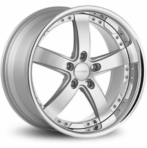 New Vossen Wheels Vvs 84 In 5x120 Silver Machine Face 20x9 Et20 20x10 5 Et 42