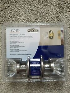 Glass Door Knob Set Backset Doorknob With Rosettes Satin Nickel