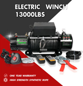 Stegodon Electric Winch 13000lbs 12v Synthetic Rope Towing Truck Trailer Jeep4wd