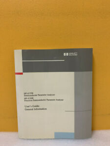 Hp 04156 90100 Semiconductor Parameter Analyzer User Guide General Information