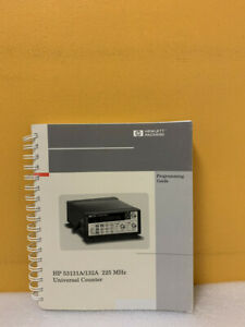 Hp 53131a 132a 225 Mhz Counter Programming Guide