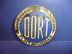 Vintage 1915 Dort Radiator Emblem Enamel Badge Ct27