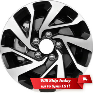 New Set Of 4 16 Machined And Black Alloy Wheels Rims For 2016 2020 Honda Civic