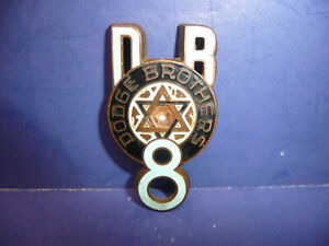 Vintage 1930 1931 Dodge Brothers Eight Radiator Emblem Enamel Badge Ct27